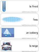 Étiquettes-mots-géants - La glace