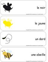 Étiquettes-mots géants - Les abeilles