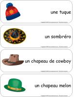 Étiquettes-mots géants - Les chapeaux