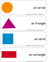 Étiquettes-mots-géants - Les formes