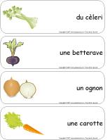 Étiquettes-mots géants - Les légumes