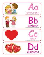 Étiquettes-mots géants-Abécédaire Saint-Valentin