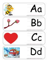 Étiquettes-mots géants-Abécédaire