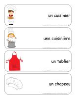Étiquettes-mots géants-Apprentis cuisiniers