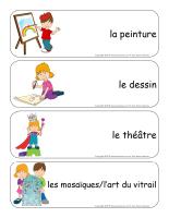 Étiquettes-mots géants-Ateliers créatifs