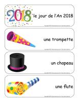Étiquettes-mots géants-Bonne année 2018-1