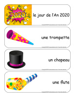 Étiquettes-mots géants-Bonne année 2020-1