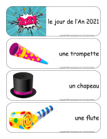 Étiquettes-mots géants-Bonne année 2021-1