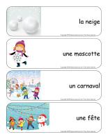 Étiquettes-mots géants-Carnaval d'hiver-1