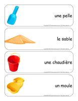 Étiquettes-mots géants-Châteaux de sable-1
