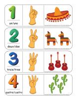 Étiquettes-mots géants-Chiffres 0 à 12-Espagnol