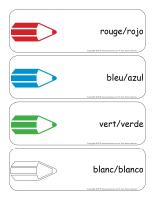 Étiquettes-mots géants-Couleurs-Espagnol