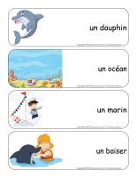 Étiquettes-mots géants-Dauphins-1