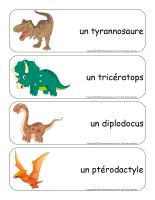 Étiquettes-mots géants-Dinosaures-1