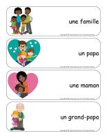 Étiquettes-mots géants-Famille-1