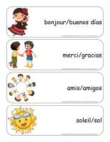 Étiquettes-mots géants-Je parle espagnol