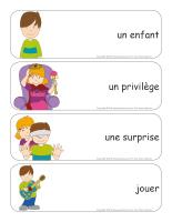 Étiquettes-mots géants-Journée de l'enfant-1