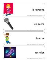 Étiquettes-mots géants-Karaoké-1