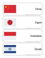 Étiquettes-mots géants-L'Asie