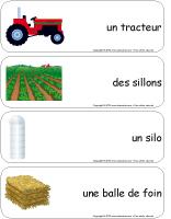 Étiquettes-mots géants-L'agriculture
