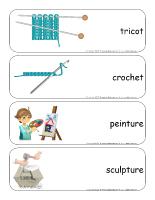 Étiquettes-mots géants-L'artisanat