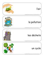 Étiquettes-mots géants-L'environnement-1