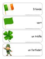 Étiquettes-mots géants-La Saint-Patrick-1