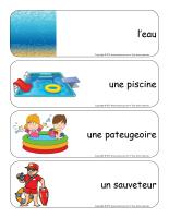 Étiquettes-mots géants-La baignade-1
