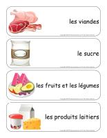 Étiquettes-mots géants-La nutrition