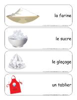 Étiquettes-mots géants-La pâtisserie