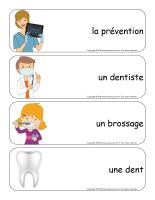 Étiquettes-mots géants-La santé dentaire-1