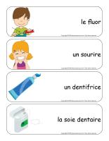 Étiquettes-mots géants-La santé dentaire-2