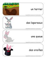 Étiquettes-mots géants-Lapins-1