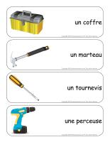 Étiquettes-mots géants-Le coffre à outils