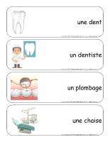 Étiquettes-mots-géants-Le dentiste