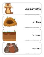 Étiquettes-mots géants-Le jour de la marmotte-1