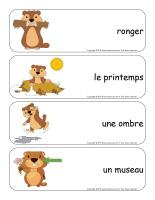 Étiquettes-mots géants-Le jour de la marmotte-2