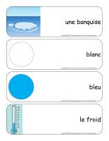 Étiquettes-mots géants-Le monde polaire-1