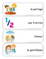 Étiquettes-mots géants-Le partage