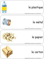 Étiquettes-mots géants-Le recyclage