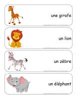 Étiquettes-mots-géants-Le safari