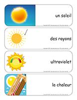 Étiquettes-mots géants-Le soleil-1