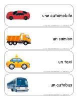 Étiquettes-mots géants-Le transport routier