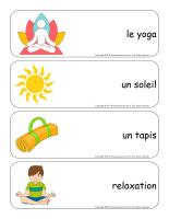 Étiquettes-mots géants-Le yoga-1
