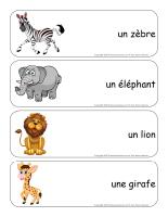 Étiquettes-mots-géants-Le zoo