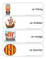 Étiquettes-mots géants-Les Vikings
