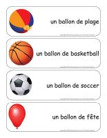 Étiquettes-mots géants-Les ballons