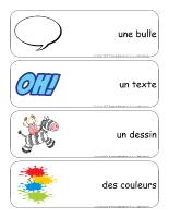 Étiquettes-mots géants-Les bandes dessinées