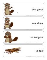 Étiquettes-mots géants-Les castors-2