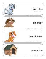 Étiquettes-mots géants-Les chiens